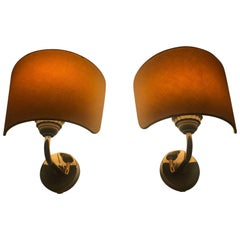 Pair of Josef Frank Wall Sconces Made for High End House Svenskt Tenn Stockholm