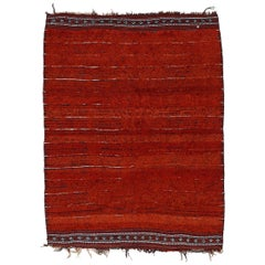 Rare Antique Central Asian Minimalist Tribal Rug