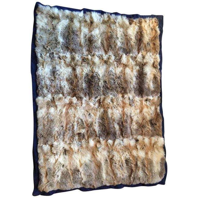 Natural Fox Throw Blanket