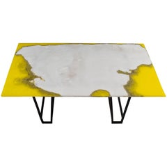 Canyon Dining Table in White Onyx