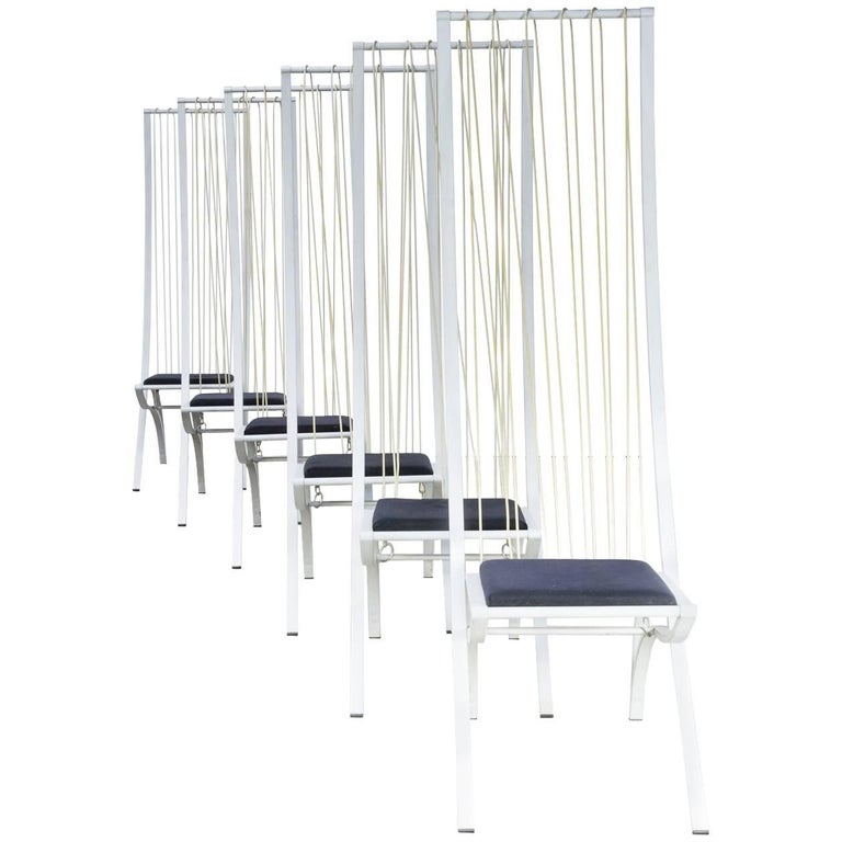Rare model high back chairs set/6 For Sale