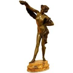 Art Deco Bronze Sculpture by Paul Phillipe, 1870-1930
