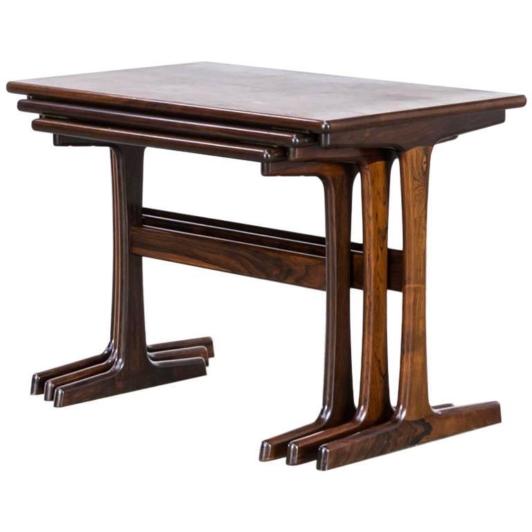 """1960s Kai Kristiansen Nesting Tables for Vildbjerg Møbelfabrik """"VM"""" For Sale"""