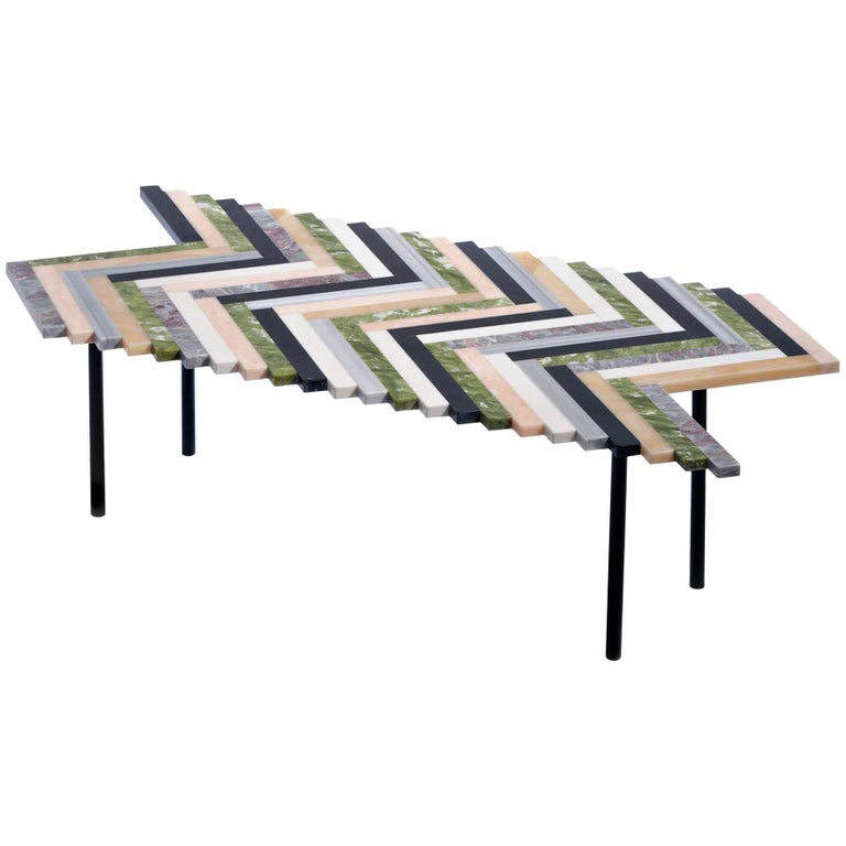 Zig Zag Marble Coffee Table