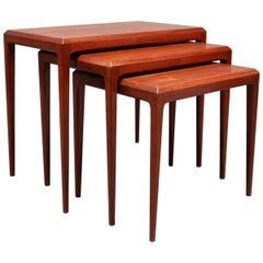 Set of Nesting Tables in Teak, Johannes Andersen and Silkeborg Furniture, 1960s
