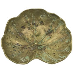 1940s Virginia Metalcrafters Brass Geranium Sculpture