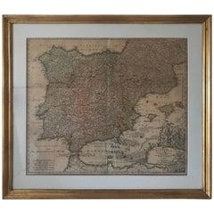 Rare Map 1710 Johann Homann Regnorum Hispaniae et Portugalliae Taula Generalis