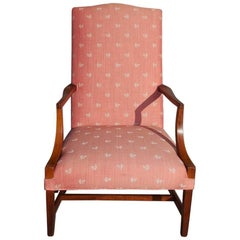 American Hepplewhite Mahogany Inlaid Martha Washington Arm Chair, Circa 1790