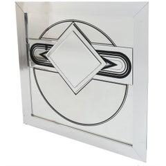 C. 1970s Op Art Mirror
