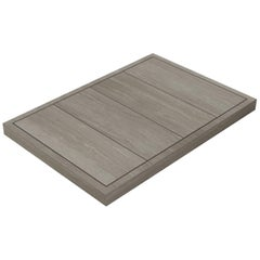 Salvatori Filo Raised 4 / 88 Shower Tray in Raw Texture Silk Georgette Stone