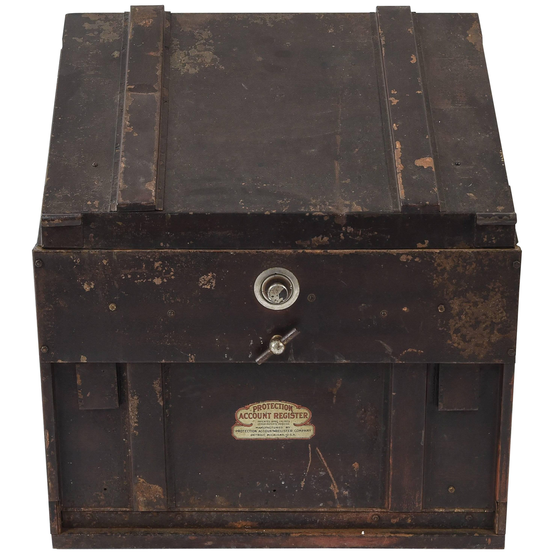 Vintage industrial Account Register filing cabinet