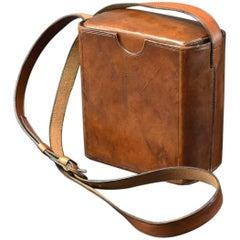 Large Leather Cigar Case with Shoulder Strap