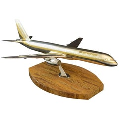 Scale Model Sterling Silver Boeing 757-200 Jet Aircraft by Garrard and Co c1984
