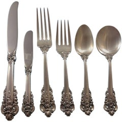 Grande Baroque by Wallace Sterling Silver Flatware for 18 Set 116 Pieces Huge