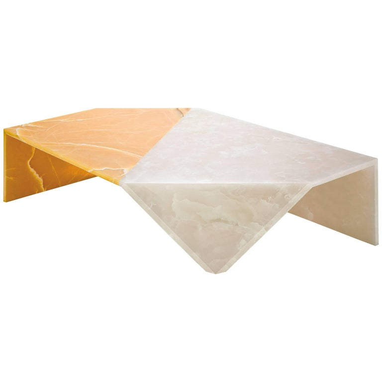 Origami Marble Living Table, Onyx