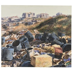 Oil on Canvas of a Landfill in Israel