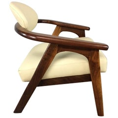 Adrian Pearsall Captains Chair in Rosewood