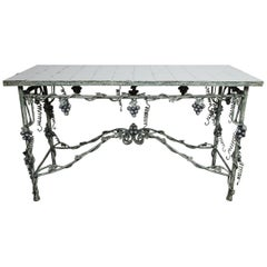 Painted Wrought Iron Table