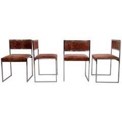 Set of Four Dining Chairs by Willy Rizzo
