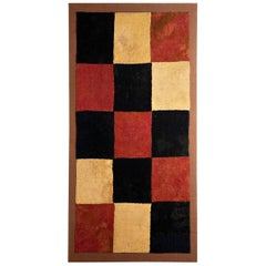 Abstract Geometric Checkerboard Pre-Columbian Early Nazca Textile - 100-300 AD