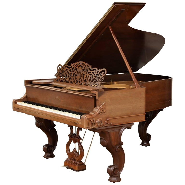 85 Key Antique Steinway Grand Piano, circa 1873 For Sale