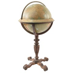 Rand McNally & Co. Terrestrial Globe on Stand, circa 1920