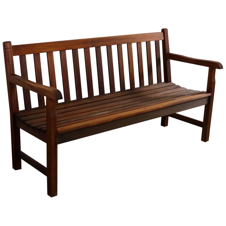 Vintage Windsor Natural Teak Outdoor Three-Seat Bench
