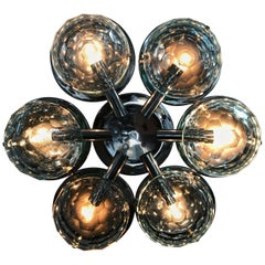 Multifaceted Six-Light Flush Mount by Pia Guidetti Crippa for Lumi, circa 1960