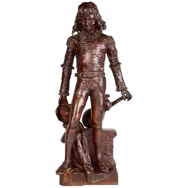 Bronze Minstrel by Renzo Colombo For Sale