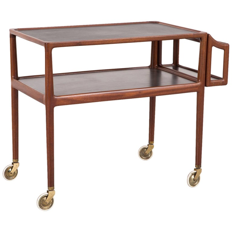 Mid-Century Modern Bar Cart Attributed to Poul Hundevad