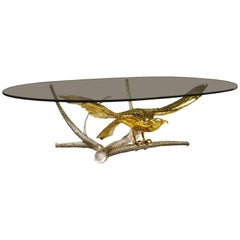 "Alain Chervet, Coffee Table ""eagle spreading its wings"""