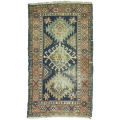 Shabby Chic Persian Heriz Throw Rug