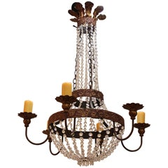 19th Century Style Chandelier with Candle-cupped Hidden Sockets