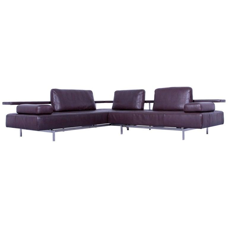 rolf benz dono designer corner sofa brown mocca leather. Black Bedroom Furniture Sets. Home Design Ideas