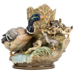 Choisy-Le-Roi Majolica Jardiniere by Louis Robert Carriere Belleuse