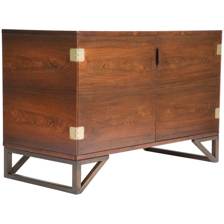 Rosewood and Brass Cabinet by Svend Langkilde