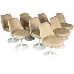 Eero Saarinen Set of Eight Tulip Swivel Dining Chairs for Knoll