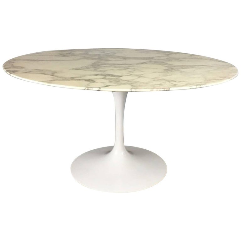 Eero Saarinen Tulip Base Marble-Top Dining Table for Knoll