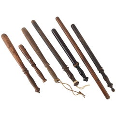 Collection of Vintage Billy Clubs, Batons or Nightsticks