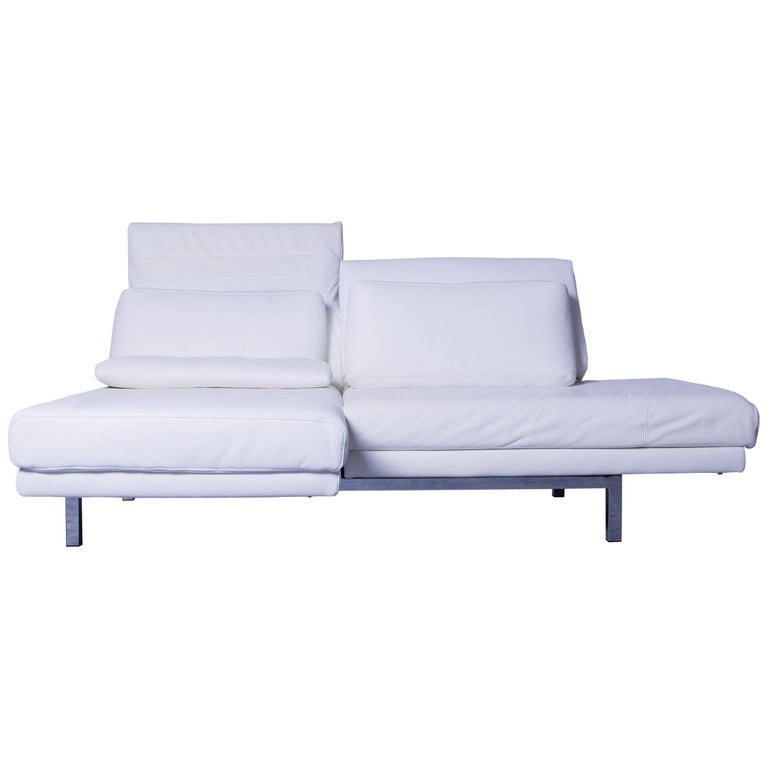 ewald schillig designer sofa white leather function recliner sofa tv modern at 1stdibs. Black Bedroom Furniture Sets. Home Design Ideas
