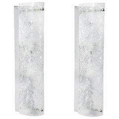 Elongated Murano Glass Sconces, Austria, 1960s