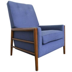 Mid-20th Century Bouclé & Maple Armchair Attributed to T.H. Robsjohn-Gibbings