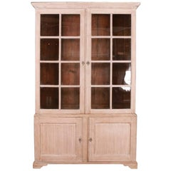 English Bleached Oak Bookcase