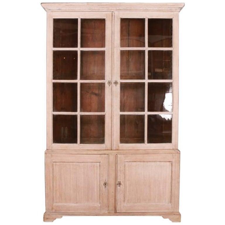 English Bleached Oak Bookcase