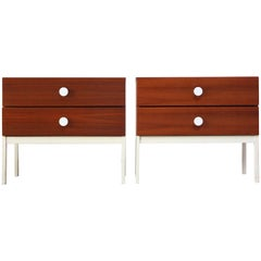 Pair of Danish Modern Teak 2-Drawer Nightstands