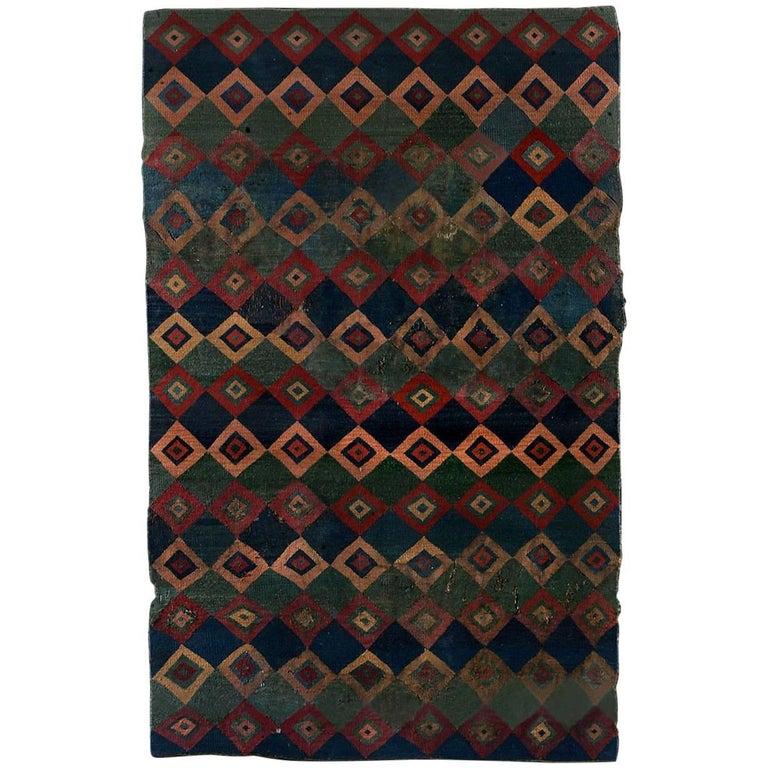 Pre-Columbian Ceremonial Inca Tokapu of Multicolor Geometric Diamond Shapes For Sale