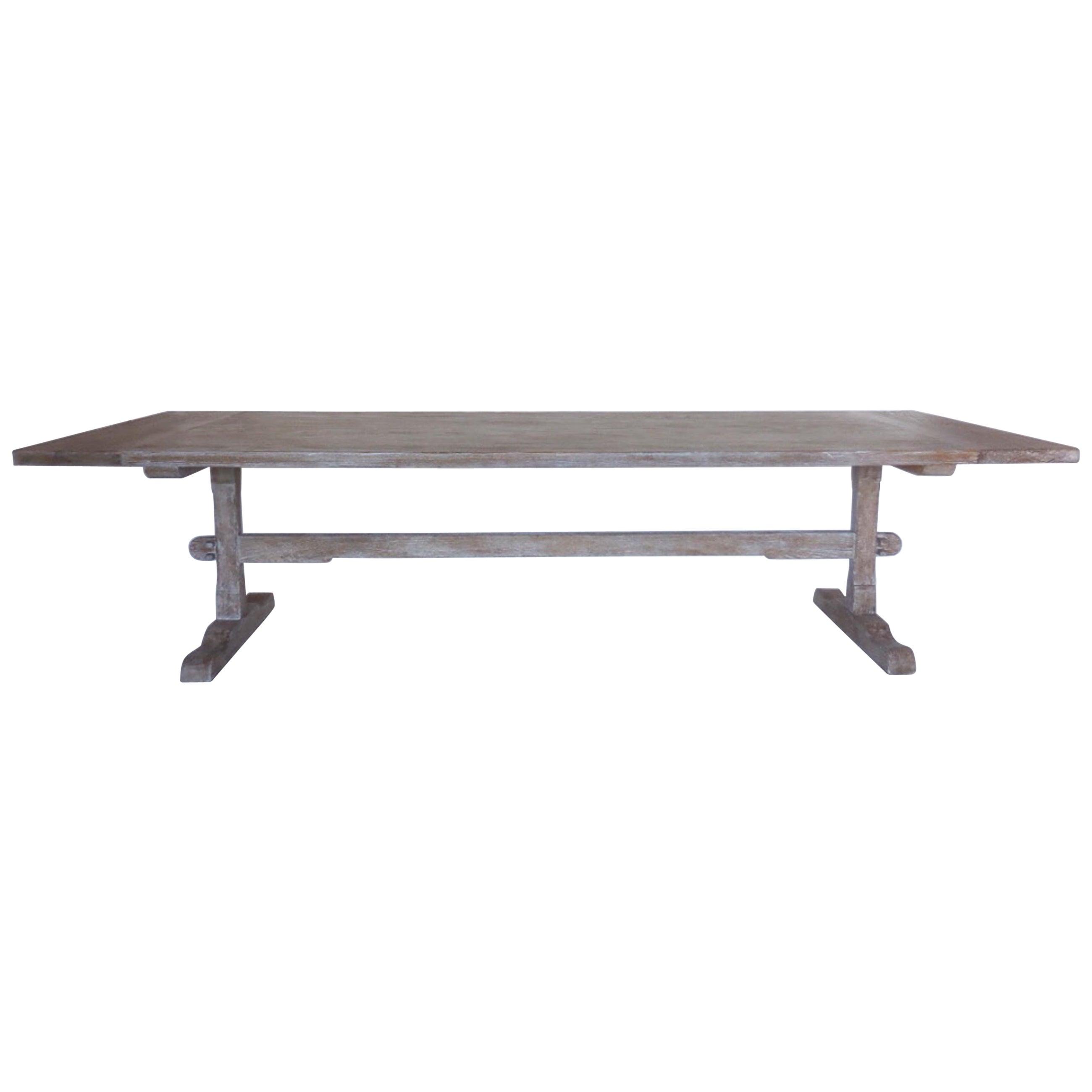 Custom Oak Classic Trestle Table