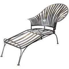 Midcentury Metal Chaise Lounge by Russell Woodard