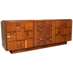 Brutalist Patchwork Nine-Drawer Dresser