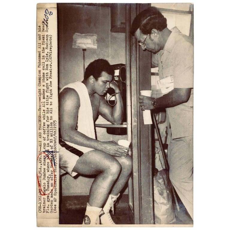 Vintage Muhammad Ali Press Photo For Sale